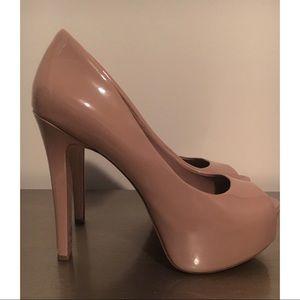 Jessica Simpson Nude Patent Leather Heels